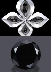 成熟した男性を意味するブラックダイヤ漆黒の輝きがヨーロッパで成熟した男性を意味するブラックダイヤは「包容力」を象徴し、装着することで凛々しくシックでシャープな印象を与えます。