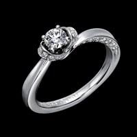 照り返し効果のあるデザインになっており、ダイヤモンドを効果的に輝かせるイメージ