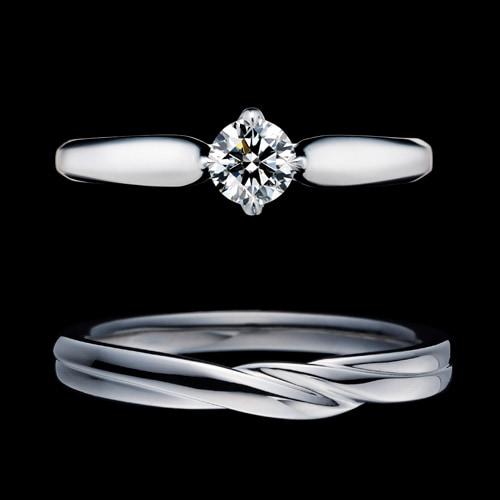 新作セットリング(婚約指輪&結婚指輪)「Bell Fabiola(ベル ファビオラ)」ラウンドカット&メンズリング